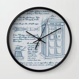 Tardis Plan Wall Clock