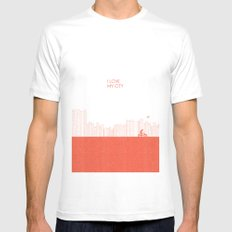 I love my City Mens Fitted Tee White MEDIUM