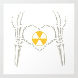 Rad Tech X Ray Skeleton Radiology Technican Gift Art Print