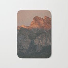 Yosemite Falls Sunset Bath Mat