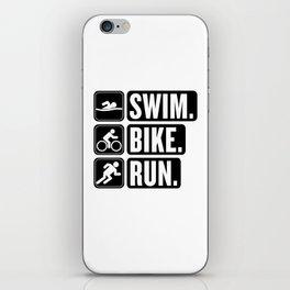 Swim Bike Run Block 2 iPhone Skin