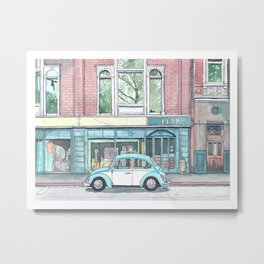 Blue Bug Metal Print