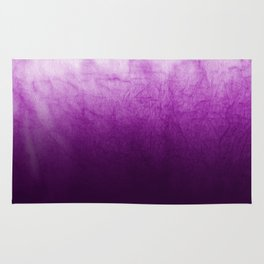 Purple Watercolor On Cotton Rug