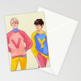 soft husbands in soft sweaters Stationery Cards