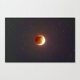 Lunar Eclipse Blood Moon Canvas Print