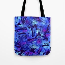 Blue violet cool brush Tote Bag