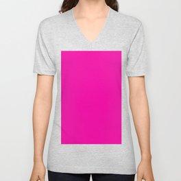 Fashion fuchsia Unisex V-Neck