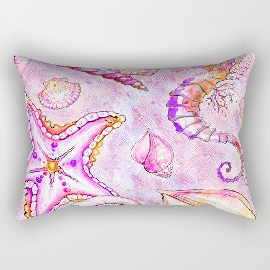 Pink seahorse Rectangular Pillow