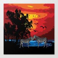 safari Canvas Prints featuring Safari  by Cindys