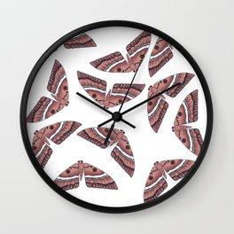 Moth Swarm Wall Clock