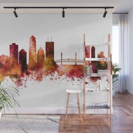 Jacksonville Florida Skyline Wall Mural