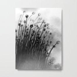 Black Lily Flowers Metal Print