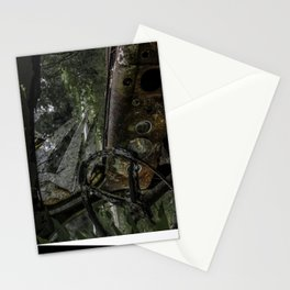 Dashed Board Abandoned Truck Dashboard Shattered Windshield Rusty Car Stationery Cards