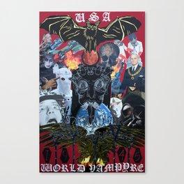 USA // WORLD VAMPYRE Canvas Print