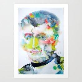 NAPOLEON - watercolor portrait Art Print