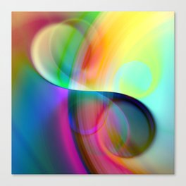 color whirl -30- Canvas Print