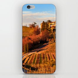 Sunset in the vineyards of Rosazzo iPhone Skin