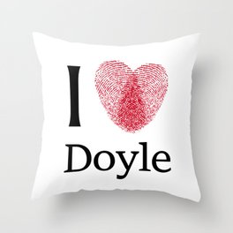 iDoyle Throw Pillow