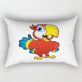 Cute cartoon colorful macaw  Rectangular Pillow