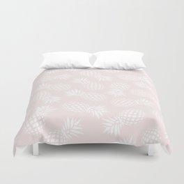 Pineapple pattern on pink 022 Duvet Cover