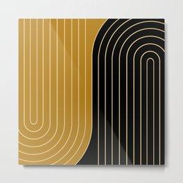Two Tone Line Curvature IX Metal Print