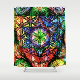 Soul Essence - The Sacred Geometry Collection Shower Curtain