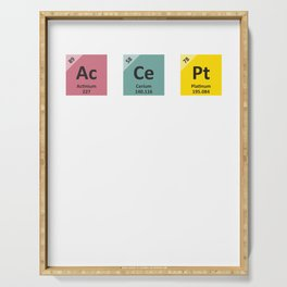 Accept People For Who They are | Periodic Table Serving Tray