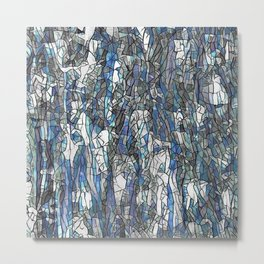 Abstract blue 2 Metal Print