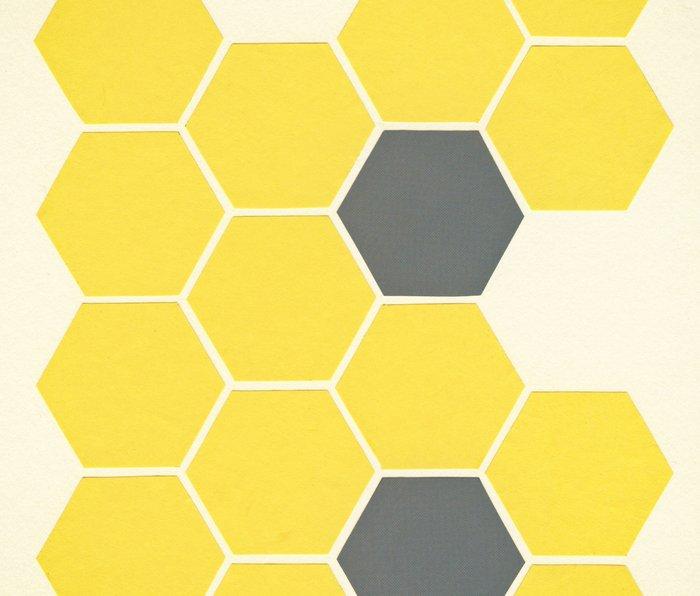 Yellow Honeycomb Metal Travel Mug