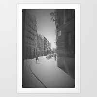 madrid Art Prints featuring Madrid by Jane Lacey Smith