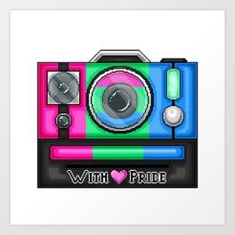 Poly Pride Pixel Camera Art Print