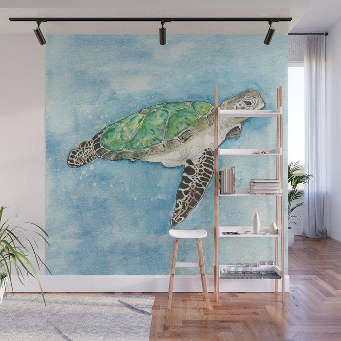 Sea Turtle Wall Mural By Anniemason
