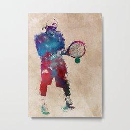 Tennis player 2 sport art #tennis #sport Metal Print