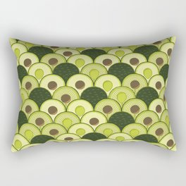 avocados in art deco Rectangular Pillow