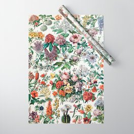 Adolphe Millot - Fleurs C - French vintage poster Wrapping Paper