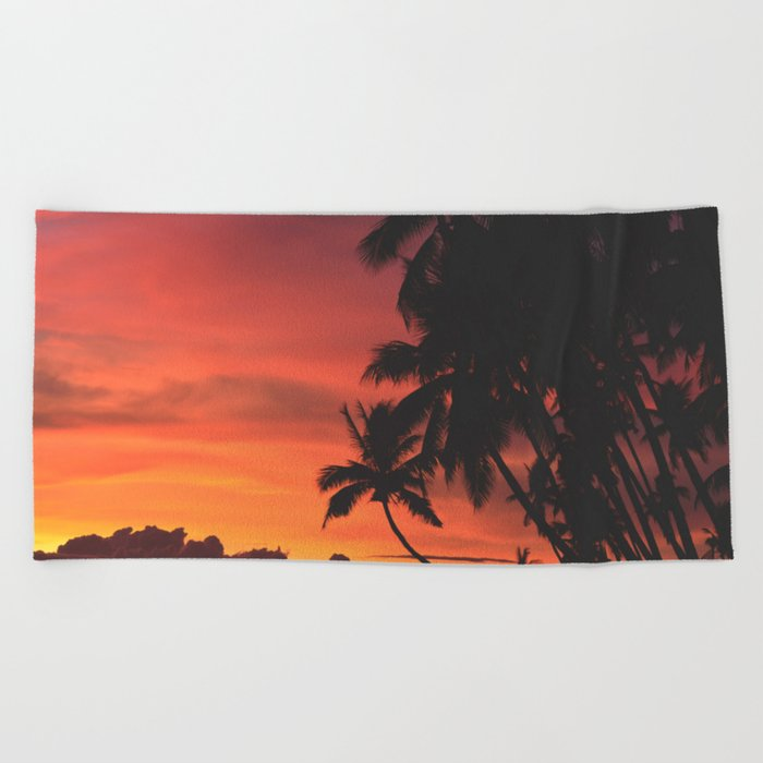Palm Tree Majesty Beach Towel