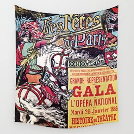Medieval Gala Opera Paris 1886 Wall Tapestry