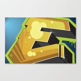 BlockBuster E Canvas Print