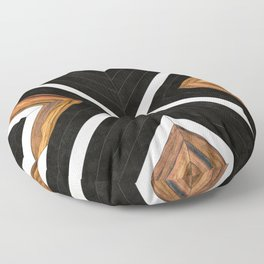 Urban Tribal Pattern 1 - Concrete and Wood Floor Pillow