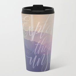 Motivational Typography And Scenic View Travel Mug