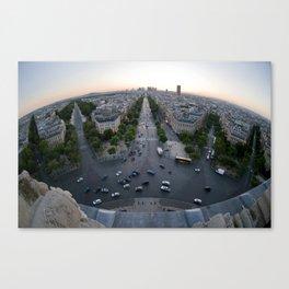 Curved Paris Canvas Print