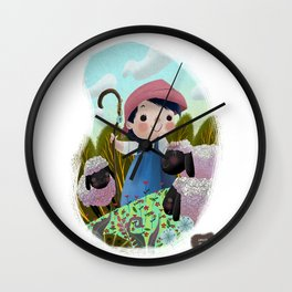 Little Bo Peep  Wall Clock