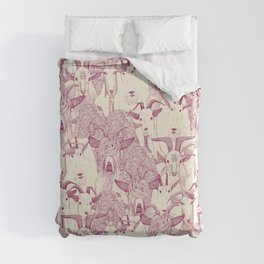 just goats cherry pearl Duvet Cover