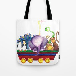Animals wagon Tote Bag