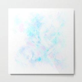 Light Blue Clouds Metal Print