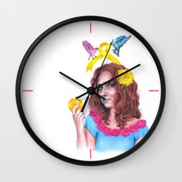 Snow White II | Endometriosis awareness Wall Clock