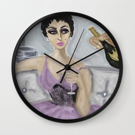 """MAGGIE ADORES HER BUBBLES"" Wall Clock"
