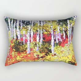Title: Glorious Colors - digital Silk Screen Rectangular Pillow