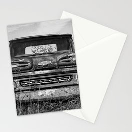 Vintage Truck Black and White Photography Stationery Cards