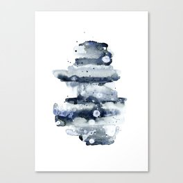 Indigo Abstract Watercolor No.1 Canvas Print